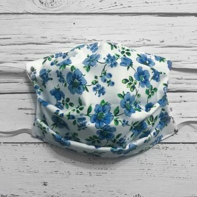 Masque Lavable Adulte - Fleurs Bleues #26