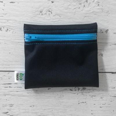 Mini Sac à Collation - Noir et Zip Bleu (1)